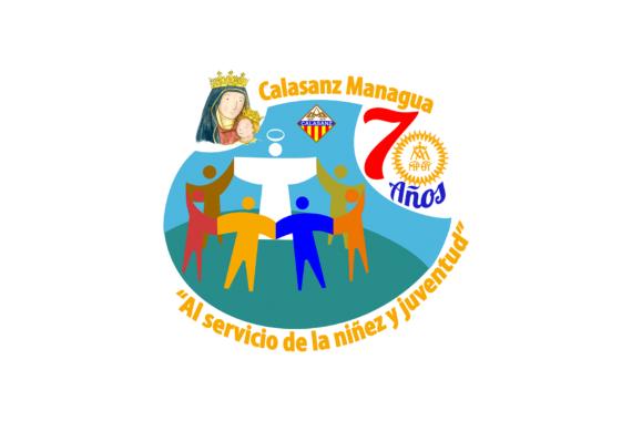 Logo oficial de los 70 años de presencia Escolapia en Managua